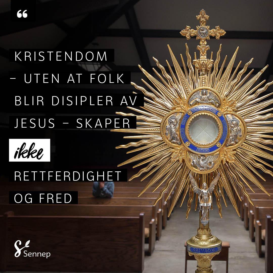 Kristendom uten at folk blir disipler - sitatbilde