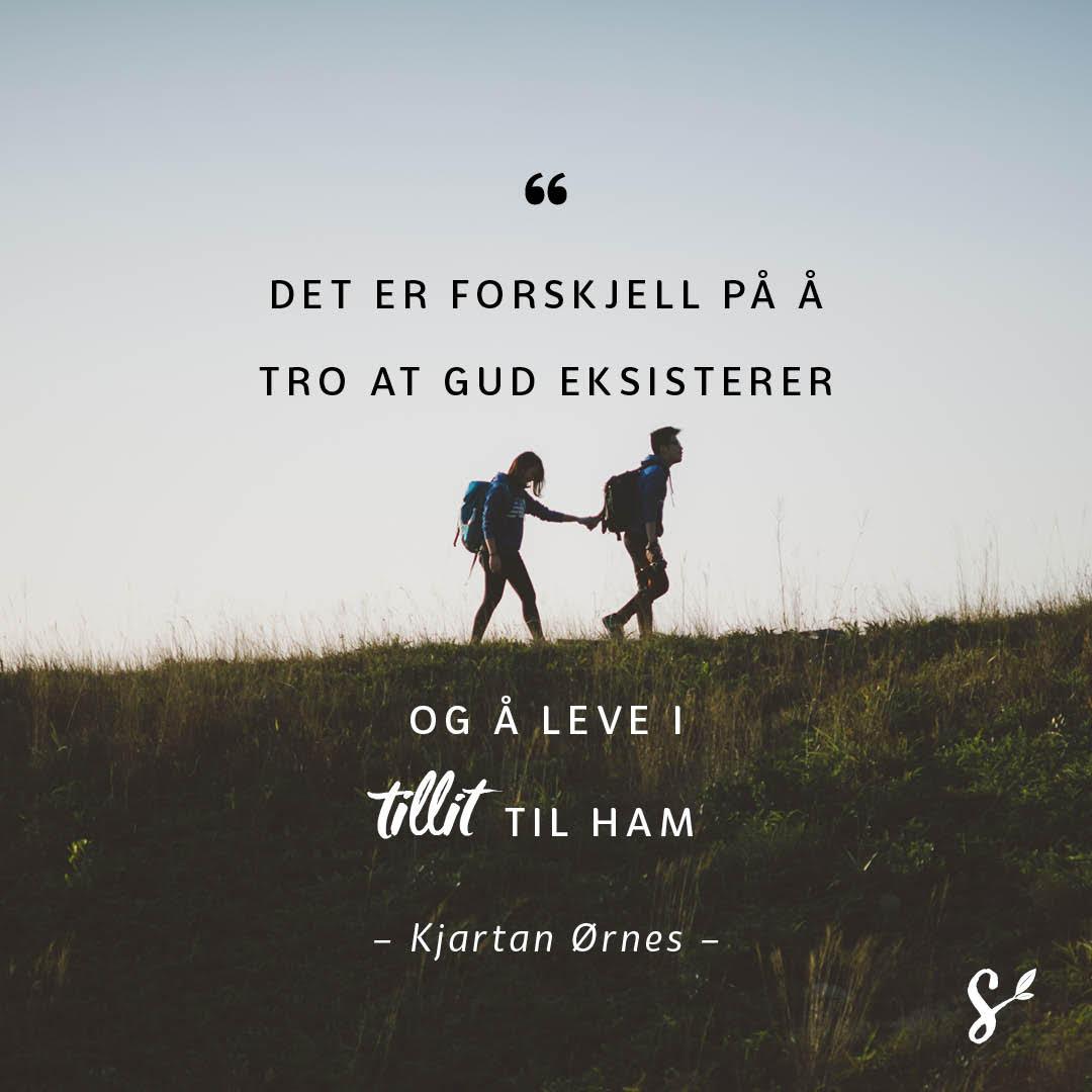 Tro er tillit til Gud - sitatbilde