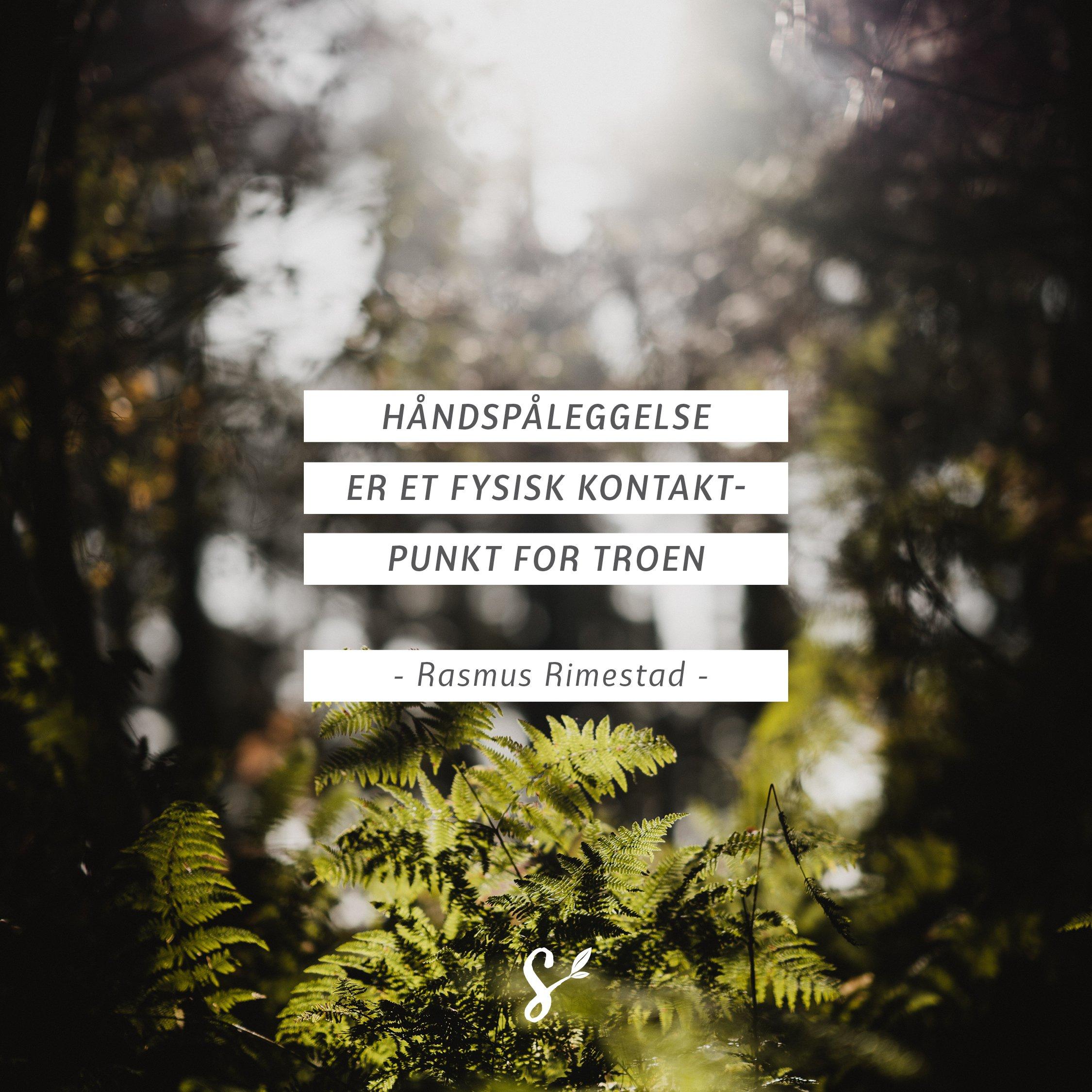 Håndspåleggelsens fire hensikter - sitatbilde