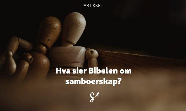 Hva sier Bibelen om samboerskap?