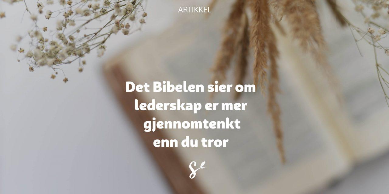 Det Bibelen sier om lederskap er mer gjennomtenkt enn du tror