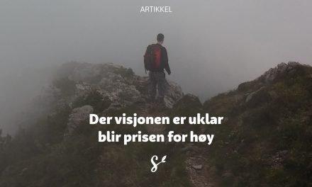 Der visjonen er uklar blir prisen for høy